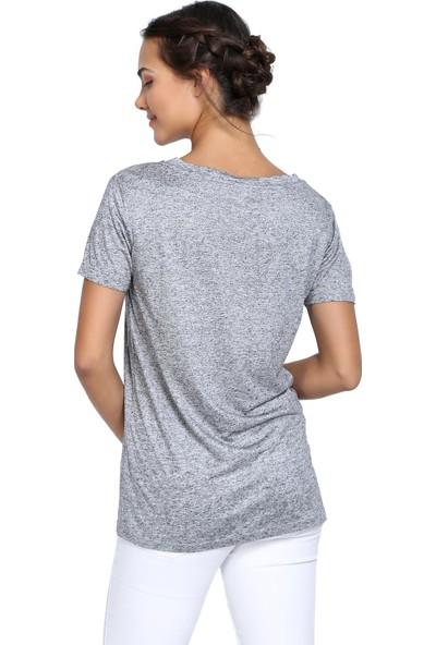 Efgima Kadın V Yaka T-shirt