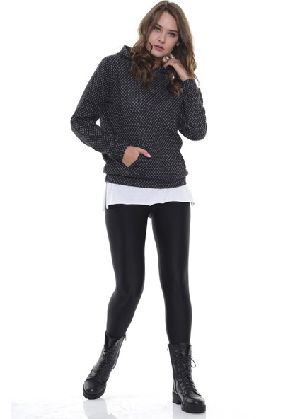 Efgima Kadın Kapüşonlu Cepli Sweatshirt
