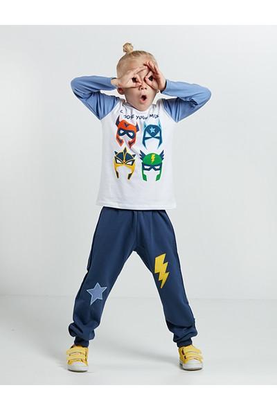 Denokids Erkek Çocuk Maskeler Pantolon Takım