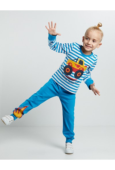 Denokids Erkek Çocuk Cip Pijama Takım