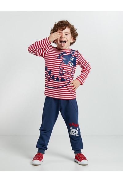Denokids Erkek Çocuk Çizgili Korsan Pantolon Takım