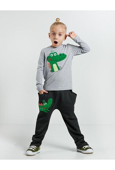 Denokids Erkek Çocuk Yeni Timsah Pantolon Takım