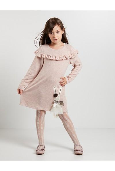 Denokids Kız Çocuk Tüllü Tavşan Kız Elbise