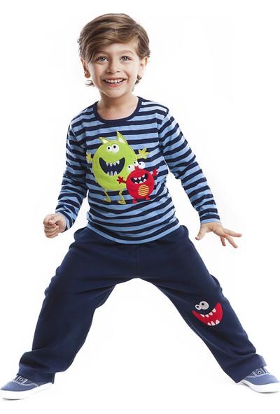 Denokids Erkek Çocuk Monster Erkek Pantolon Takım