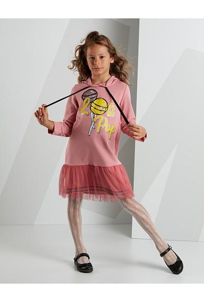 Mushi Kız Çocuk Lolipop Kapişonlu Elbise