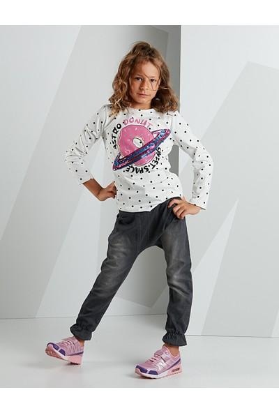 Mushi Kız Çocuk Astrodonut Kız Kot Pantolon Takım