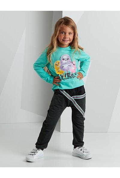 Mushi Kız Çocuk Pamuk Şekeri Kız Pantolon Takım