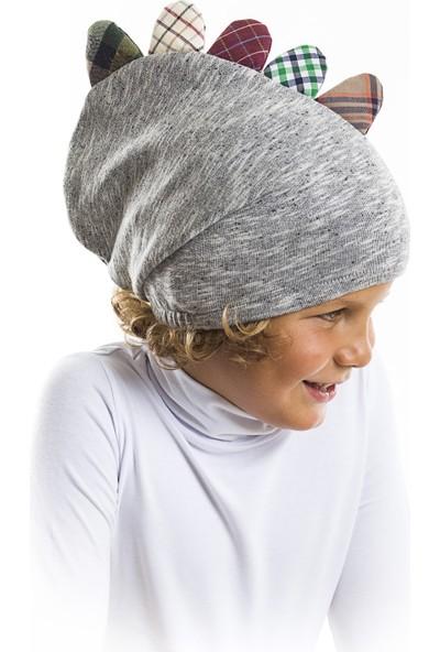 Mushi Erkek Çocuk Dino Mino Tırtırlı Ekose Şapka