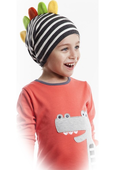 Mushi Erkek Çocuk Dino Mino Tırtırlı Şapka