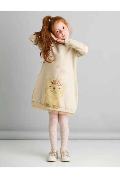 Ollie&Olla Kız Çocuk Cat Dream Elbise