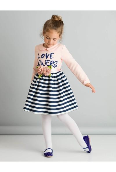 Ollie&Olla Kız Çocuk Love Flowers Elbise