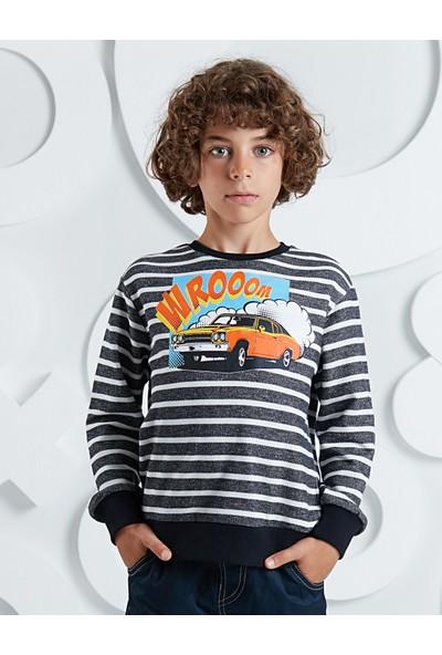 Ollie&Olla Erkek Çocuk Wroom Erkek Sweatshirt