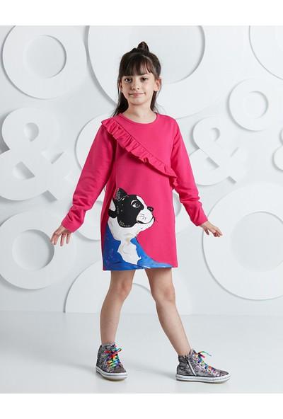 Ollie&Olla Kız Çocuk Pug Fırfırlı Kız Elbise