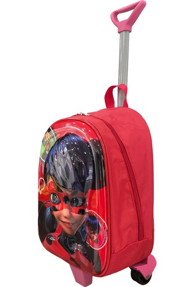 Fudela Gnc Design Çekçekli Kırmızı Kız Kreş Okul Çantası