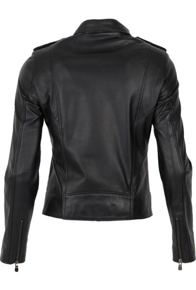 By Motto Jasmine Biker Kadın Deri Ceket