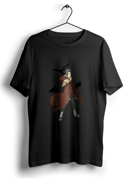 Anime Pazarı Uchiha Itachi Kargalı T-Shirt Unisex Anime T-Shirt