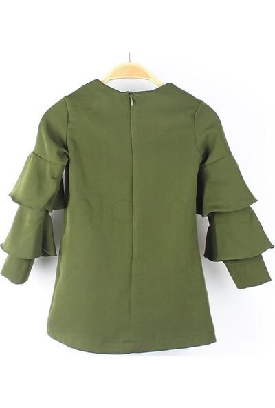 İncity 1-6 Yaş İncity Kolları Kat Kat Çocuk Elbisesi