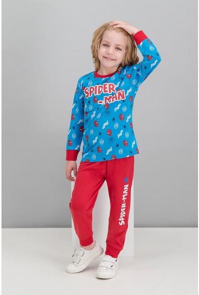 Spiderman Lisanslı Cobalt Mavi Erkek Çocuk Pijama Takımı