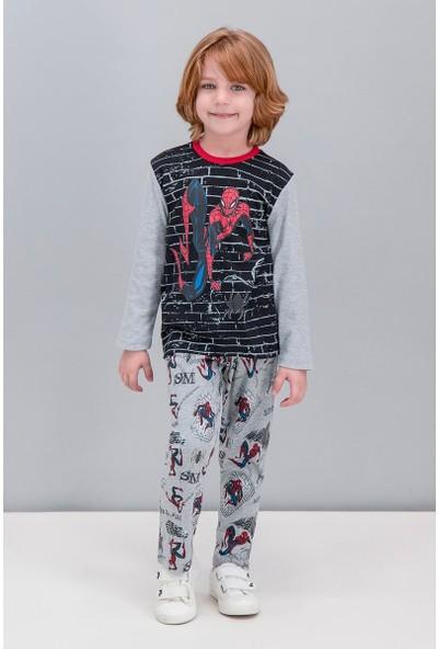 Spiderman Lisanslı Siyah Erkek Çocuk Pijama Takımı