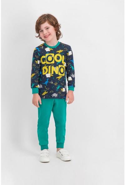 Roly Poly Cool Dinosaur Lacivert Erkek Çocuk Pijama Takımı