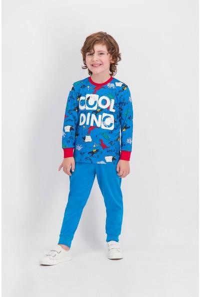 Roly Poly Cool Dinosaur Cobalt Mavi Erkek Çocuk Pijama Takımı