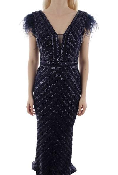 Arda New Line Kadın Lacivert Abiye 1607853-10.02