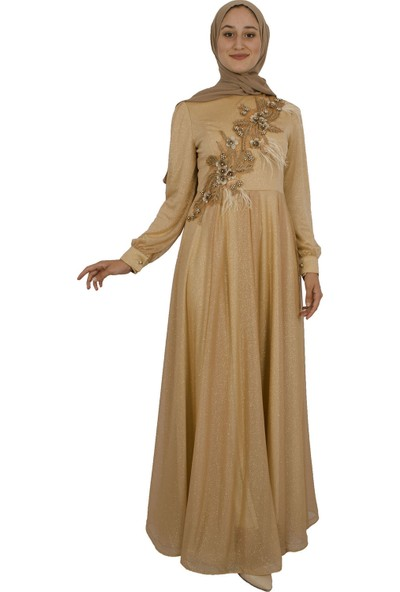 Arda New Line Kadın Gold Abiye 320055-10.122