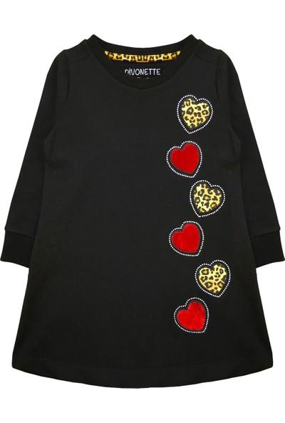 By Leyal For Kids Kız Çocuk Kalp Detaylı Penye Elbise