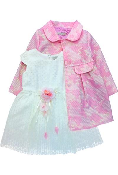 By Leyal For Kids Kız Çocuk Elbise Ve Manto Set