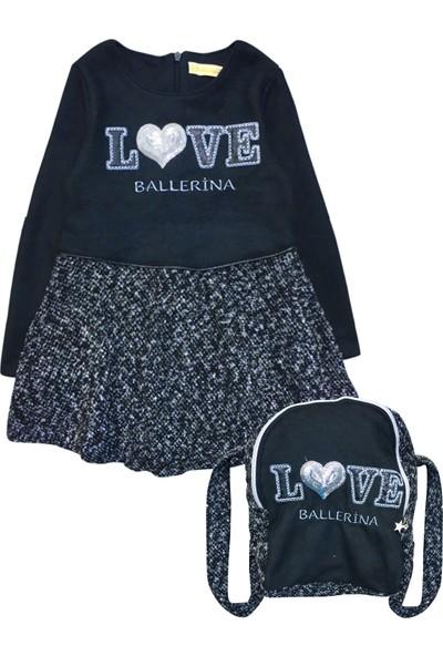 By Leyal For Kids Kız Çocuk Kız Detaylı Elbise Ve Çanta Set