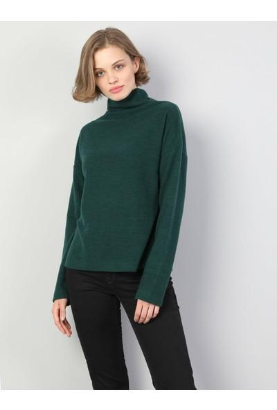 Colin'S Kadın Yeşil Tshirt Uzun Kol