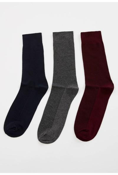Defacto Erkek 3Lü Uzun Çorap