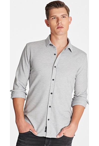 Mavi Erkek Gri Örme Gömlek 021355-29850