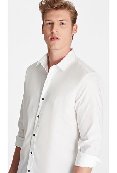 Mavi Erkek Beyaz Gömlek
