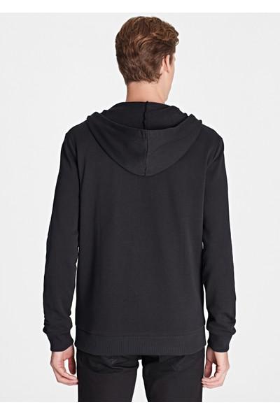 Fermuarlı Siyah Sweatshirt 065582-900