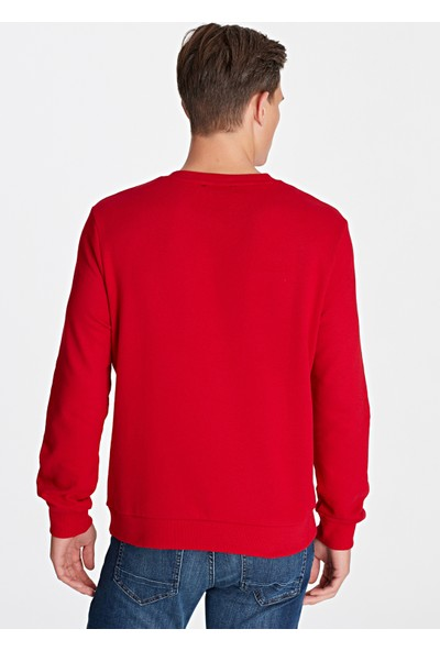 Mavi Erkek Kırmızı Sweatshirt