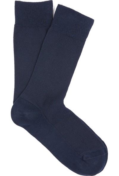 Mavi Erkek Lacivert Uzun Çorap