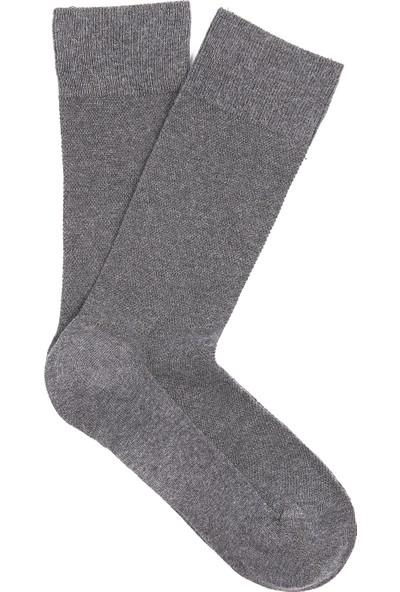 Mavi Erkek Gri Uzun Çorap