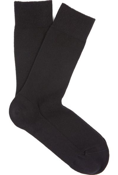 Mavi Erkek Siyah Uzun Çorap