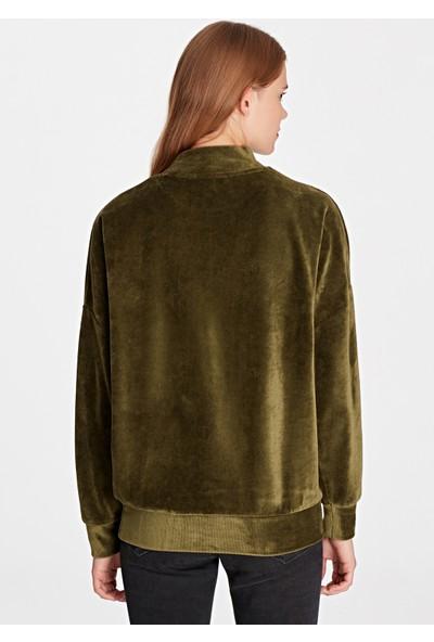 Kadife Haki Sweatshirt 166490-29704