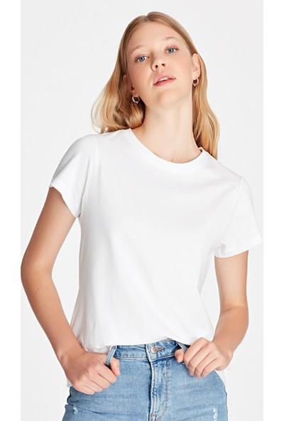 Mavi Kadın Beyaz Basic Tişört