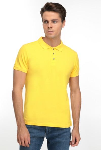 D'S Damat Erkek Regular Fit Tshirt Sarı