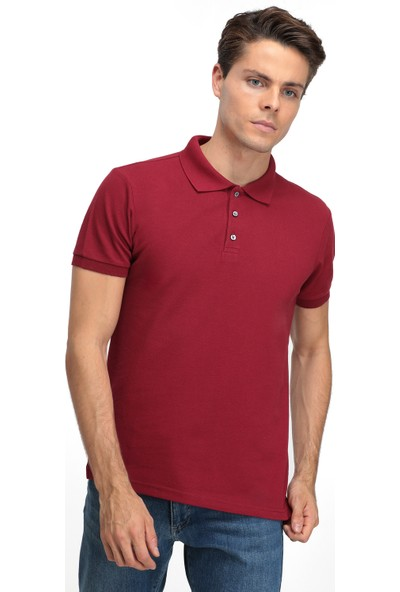 D'S Damat Erkek Regular Fit Tshirt Bordo