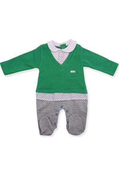 Murat Baby Kravatlı Yeşil Bebek Tulumu K2971 X62Cm