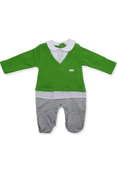 Murat Baby Kravatlı Açık Yeşil Bebek Tulumu K2970 X62Cm