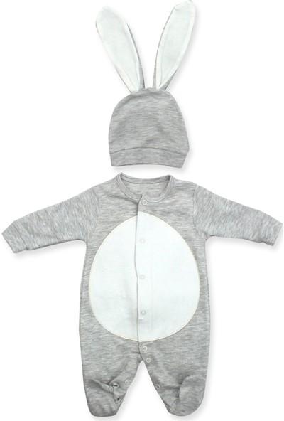 Murat Baby Şapkalı Ponpon Kuyruklu 2'li Bebek Tulumu K2968 X56Cm