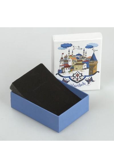 Mavi Tasarım İstanbul Temalı Takı Kutusu