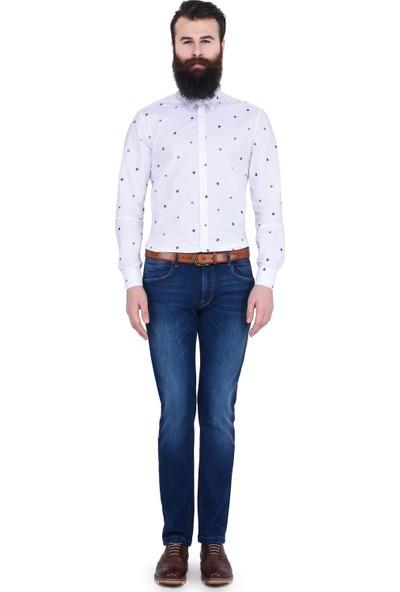 Lufian Erkek Slim Fit Portman Smart Gömlek