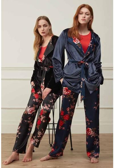 Feyza 3509 Sabahlıklı Pijama Takımı