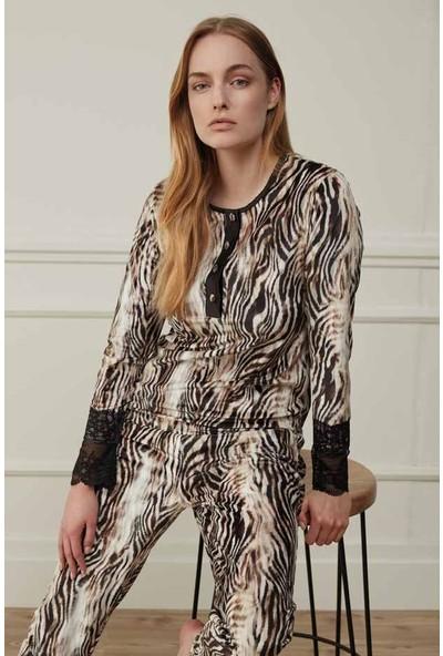 Feyza 3516 Kadın Uzun Kollu Pijama Takımı